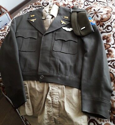 Wwii Us Army Air Forces Officer Quality Ike Jacket, Shirt, Pants Unique Insignia