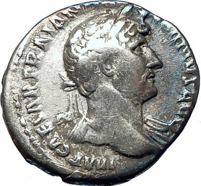 HADRIAN 123AD Rome  Authentic Ancient Roman Silver Coin Aequitas  i73586