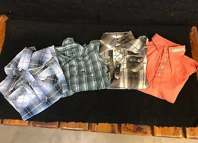 Set Of 4 Boys Western Pearlsnap Shirts 24 Months