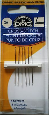 Size 26 Dmc Cross Stitch Needles Pack Of 6 With Free Uk Postage And Packing