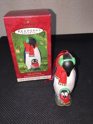 Hallmark Keepsake Ornament 2001 Safe and Snug Series Penguins #1