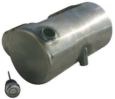 Ultima 3.5 Raw Metal Side Fill Round Oil Tank for 1984-1999 Softail or Rigid