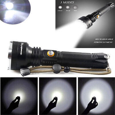 Camping Hunting 50000Lumens Rechargeable T6LED Flashlight Torch Lamp Waterproof*