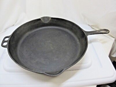 Antique Wagner Ware cast iron skillet no.13 RARE!!! Nice!!