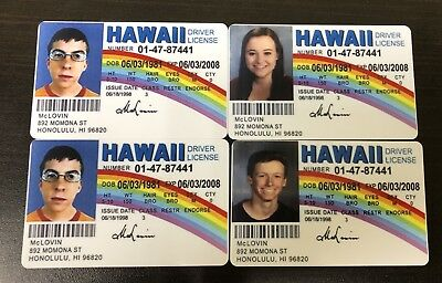 McLovin ID from Movie Superbad Fake Joke HIGH QUALITY With Your Picture On It