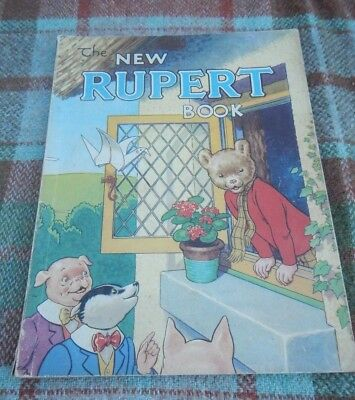 Vintage Original 1946 Rupert Bear Annual, Price Unclipped 3/6, Lovely Condition.