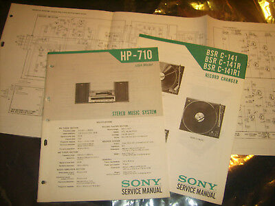 Sony HP-710 BSR C-141 C-141R Original Service Manuals, Pullout Schematic Diagram