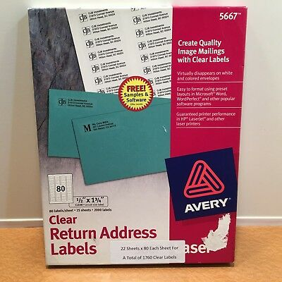 avery easy peel laser mailing labels 3 1 3 x 4 clear 300 box bx