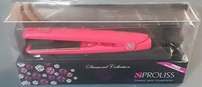 Brand New Proliss Diamond Collection Pink 3 4 Mini Ceramic Ionic Straightener
