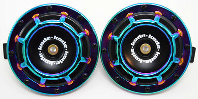 A Pair Neo Universal 12V5 Compact Super Tone Loud Blast Grill Mount Hella Horn