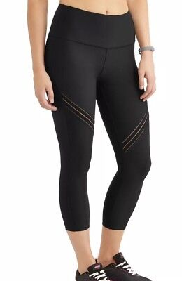 7f22af38044afc Avia Women's Active High Rise Performance Filament Insert Capri Legging XL  Black