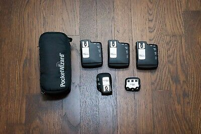 Pocket Wizard Flex TT5 (x3), Mini TT1, AC3 controller for Nikon. With case.