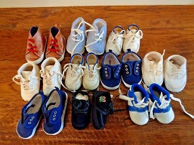 Lot 10 Baby Boy Soft Sole Shoes SZ 0, 1, 3, Old Navy - 3-6 & 6-12 mo. Gold Bug