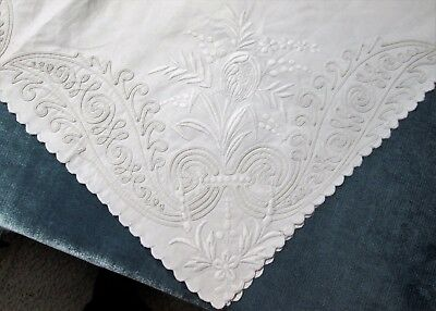 FABULOUS EMBROIDERY Pair Lay Over Pillow Shams L & M Monograms Repair or Project