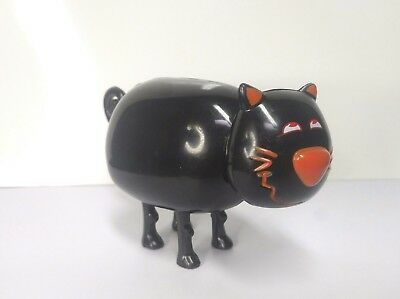 Rosbro? Vintage Halloween Plastic Candy Container Dispenser Black Cat Mechanical
