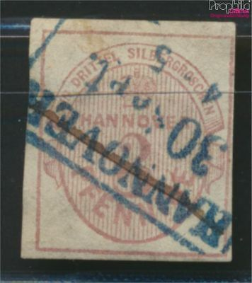 Hanover 6a splendor tested used 1851 Value label (9036643
