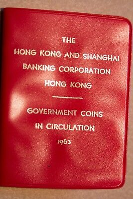 Hong Kong 1960-64 Mint Set 5, 10, 50 cents and dollar in Red Wallet