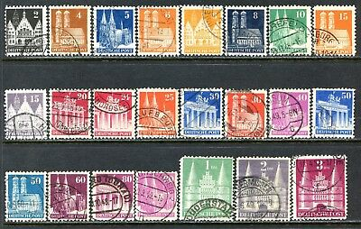 Germany Postage Stamps Scott 634-660, Used Part Set - Perf 11 Stamps!! G1148d