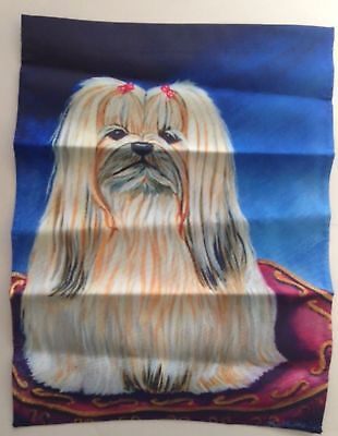 "Lhasa Apsa Dog Garden Flag USA Double Sided 11"" x 15"" Girlfriend Christmas Gift"