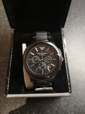 Emporio Armani AR1451 Ceramica Chronograph Men's Watch, Black