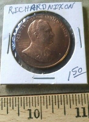 1 VINTAGE  COIN TOKEN NIXON 1969 37th PRESIDENT OF THE U.S.