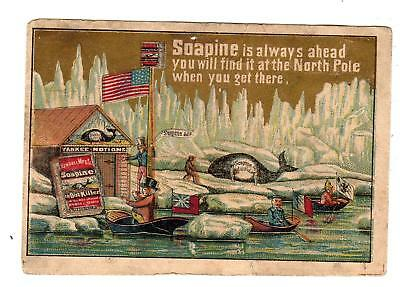 Soapine*north Pole*american Flag*uncle Sam*yankee Notions*victorian Trade Card