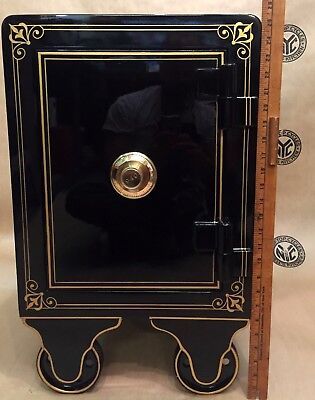 SMALL ANTIQUE safe with combination restored