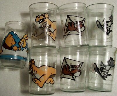 7 welches jelly cartoon character glasses including pooh+ tom+jerry