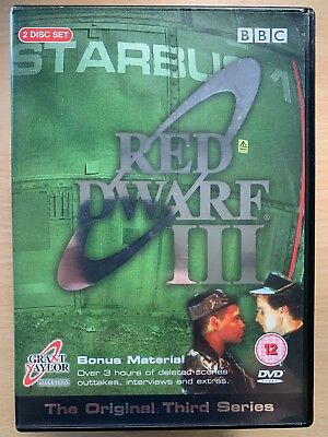Craig Charles Chris Barrie RED DWARF SEASON 3 ~ BBC Cult Sci-Fi Series UK DVD