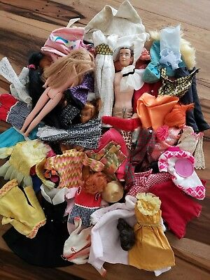 VINTAGE BARBIE, SHILMAN, and TAMMY DOLL MIXED CLOTHING