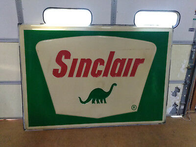 Vtg. SINCLAIR GAS STATION SIGN LENS 7' x 5' Oil Garage Light .............. NR !