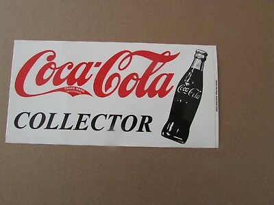 """COCA COLA COLLECTOR DECAL - WITH COKE BOTTLE - approx 7.5 x 4"""""""