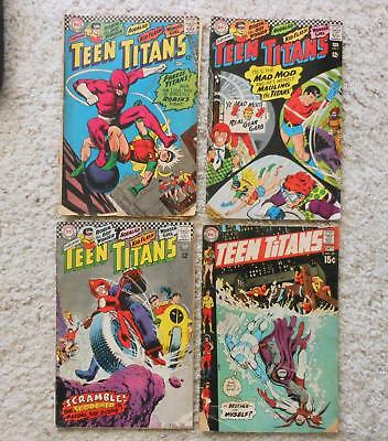4 Old Comic Books Teen Titans #5 (1966) #7 (1967) #10 (1967) #29 (1970)