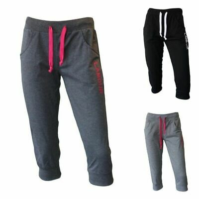 NEW Women's Ladies 3/4 Soft Gym Sports Track Pants Shorts Trackies - L'AMOUR