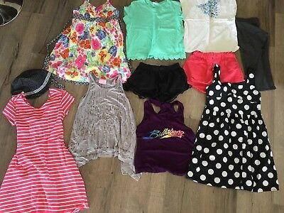 Girls Mixed Clothing - Size 10 Shorts Dresses Tops Leggings - Exc Cond