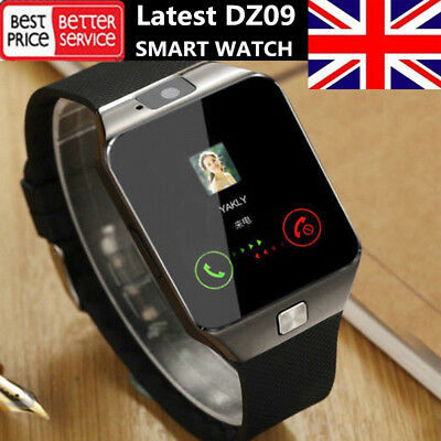 DZ09 Smart Watch Bluetooth Camera SIM Card Phone Compatible Android UK Stock New