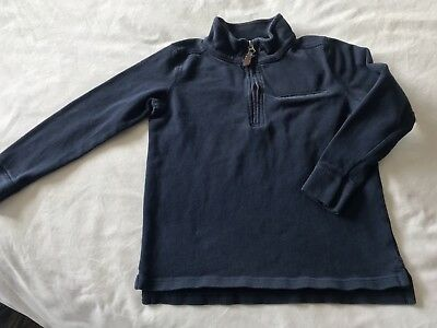 CREWCUTS boys cotton 1/4 zip navy blue sweater - size 6-7