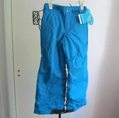 NWT COLUMBIA Boys/Girls Snow Pants Waterproof Ski Snowboard Blue Size XS 6-7y