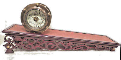 Mechanical Rolling Plane Clock--You Never Wind It With A Key--Porcelain Dial
