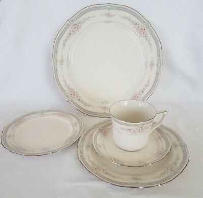 Noritake Rothschild #7293 8 Complete 5 pc Place Setting 40 pcs Excellent Wedding