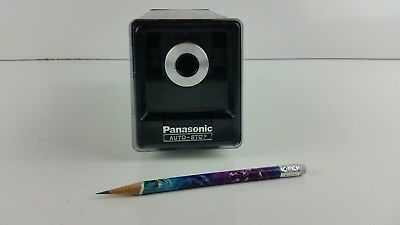 Vintage Wood Grain Panasonic Electric Pencil Sharpener Model KP-77N Auto Stop
