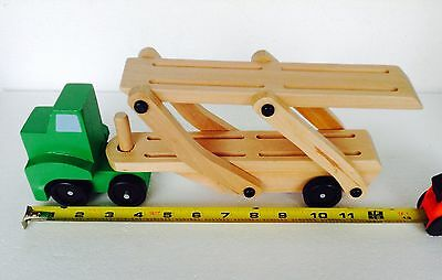 Wood Car Carrier Truck & Trailer by Melissa and Doug Classic