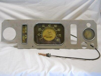 Mack Truck Instrument Cluster Dash Gauges Temperature Oil Water Vintage 1949 50