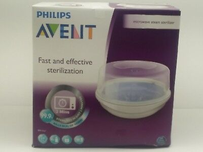 Philips AVENT Microwave Steam Sterilizer for Baby Bottles- New- Open Box