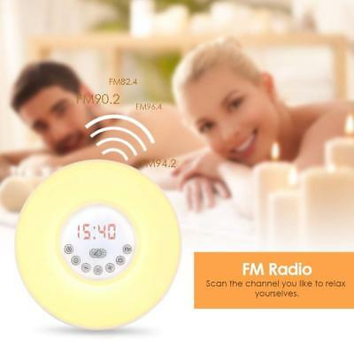 INLIFE Wake Up Light Sunrise Alarm Clock w/ 6 Changing Colors Night Light Alarm