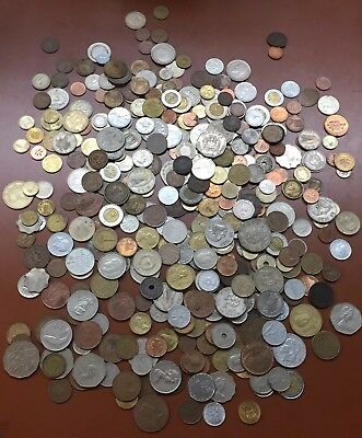 World Coin Lot Of 320+ Coins Coin:Great Britain/France/Denmark/Mexico/Australia+