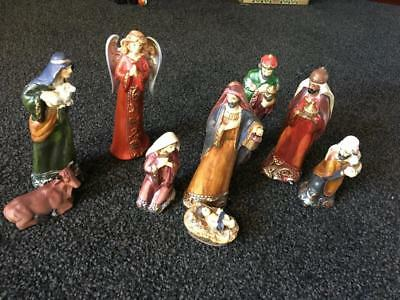 Vintage  Christmas Nativity Set -  Lovely - Collectable - Rare - Buy Now