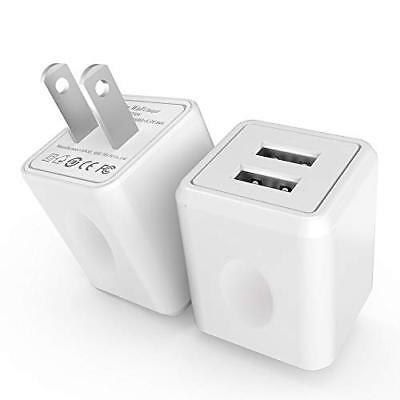 Wall Charger, [2-Pack] 2.4Amp Taymanso 2-Port USB Wall Charger Home Travel Plug
