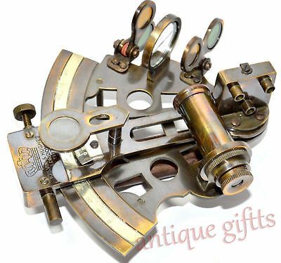Kelvin Hughes Marine Sextant Solid Brass Astrolabe Nautical Sextant5""