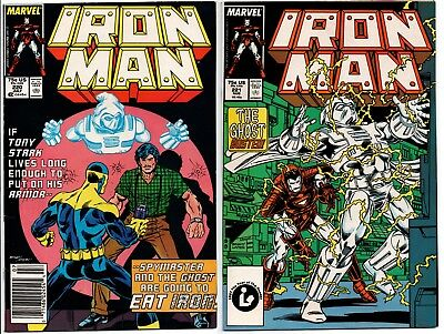 IRON MAN #220 221 2nd and 3rd App GHOST Ant-Man & Wasp VF Newsstand